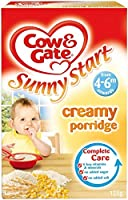 Cow & Gate Sunny Start Creamy Porridge 4mth+ (125g) 牛とゲート晴れ開始クリーミー粥4Mth + ( 125グラム)