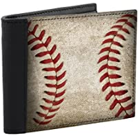 Baseball Stitch Design Men's Wallet Leather Accents