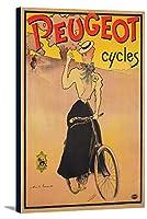 Peugeotサイクルヴィンテージポスター(アーティストLucas )フランスC。1897 12 x 18 Gallery Canvas LANT-3P-SC-73772-12x18