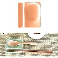 【箸置き4個セット】和食器 選べる8カラー!小皿にもなるカトラリーレスト (マジョルカオレンジ)