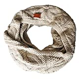 Aran Traditions Knitted Style Cable Design Snood, Oatmeal Colour Carrolls Irish Gifts