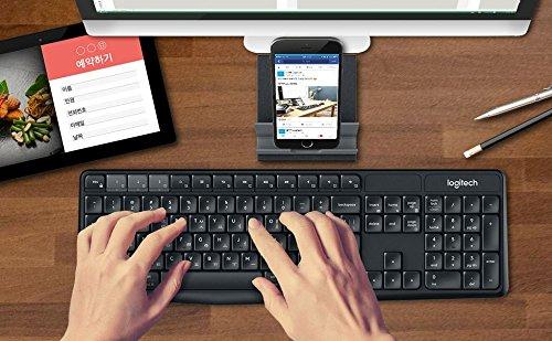 Logitech(ロジテック) K375S Multi-Device ワイヤレース,ブルートゥース キーボード&スタンドコンボ (Windows, Android 5.0, Mac OS, iOS, Chrome OS) Englsigh/Korean Keys ロジクール [並行輸入品]