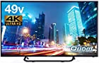 【タイムセール】山善 キュリオム 49V型 液晶 テレビ 4K対応 地上・BS・110度CS 外付けHDD 録画 裏番組録画 QRS49U4Kが激安特価!
