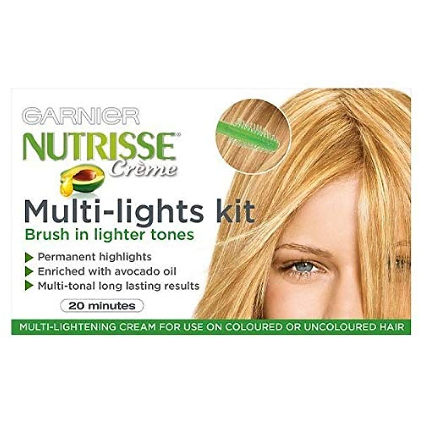 付き添い人回転避難する[Garnier ] ガルニエNutrisseハイライトキットマルチライト永久 - Garnier Nutrisse Highlights Kit Multi-Lights Permanent [並行輸入品]