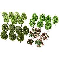 70個入りセット モデルツリー 樹木 木 鉢植え用 鉄道模型 風景 モデル トレス 情景コレクション ジオラマ 建築模型 電車模型 3-9cm