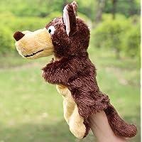 YChoice 興味深い指人形 おもちゃ 動物園 友達 ハンドパペット 幼稚園の物語 小道具 ウルフ ハンドパペット ブラウン