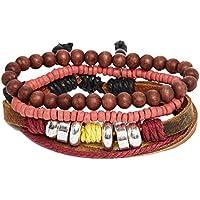 [エイソス]asos Icon Brand Beaded Bracelet Pack アイコンブランド ビデッドブレスレットパック メンズ アクセサリー brown 700283 one size [並行輸入品]