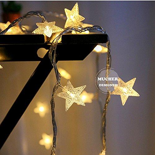 MUCHER クリスマス ライト ストリングライト 星型装飾...