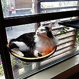 (Enerhu)猫ハンモック 猫用ハンモック 猫窓用ベッド ペット用 ウィンドウベッド 窓 ネコ ねこ ベッド 強力 吸盤 日向ぼっこ 昼寝 猫おもちゃ 設置簡単 省スペース オレンジ