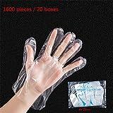 使い捨てビニール手袋、フード調理用Pe、キッチンクリーニング、屋外ディナー、プラスチック透明コード(1600個)