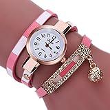ホットセールWomens Watches、jushye新しいレディースメンズレザーステンレススチールWatch Sport Quartz Wrist Watch ( O )