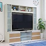 送料無料 テレビ台 ハイタイプ 50インチ TV台 テレビラック ゲート型AVボード ホワイト&ナチュラル SAV048