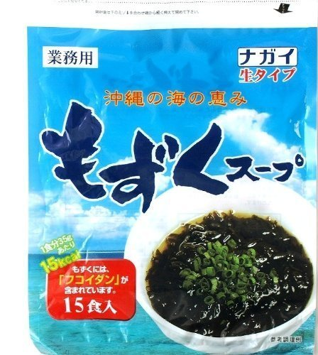 ナガイ 沖縄の海の恵み もずくスープ 35g 15食入×96パック 生タイプ 業務用