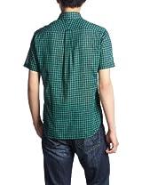 Voile Gingham Short Sleeve Butttondown Shirt 1216-218-1821: Kelly