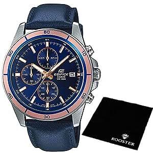【セット】[カシオ] CASIO 腕時計 EDIFICE エディフィス 100m防水 クロノグラフ EFR526L-2A メンズ ROOSTER マイクロファイバークロス 15×15cm付き [並行輸入品]