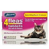 Johnson's 4fleas タブレット成猫 &仔猫用 15分でノミ退治効果を発揮 6錠