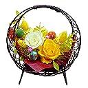 プリザーブドフラワー 花つづり(ひまわり色) 結婚祝い 誕生日 還暦祝い 送別 退職祝い
