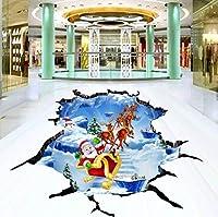 C396 巨大 3D フロアマット 3m*5m* Xmas ハロウィン パーティー コスプレ 小道具 防音 断熱 滑り止めシート 床 壁 天井 はがせるシール