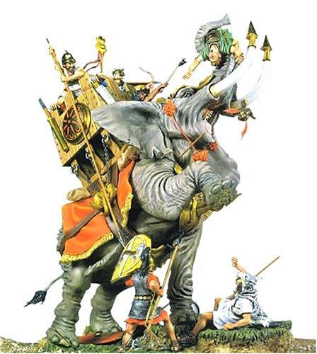 アンドレアミニチュアズ SG-S4 Chartaginian War Elephant (202 BC)