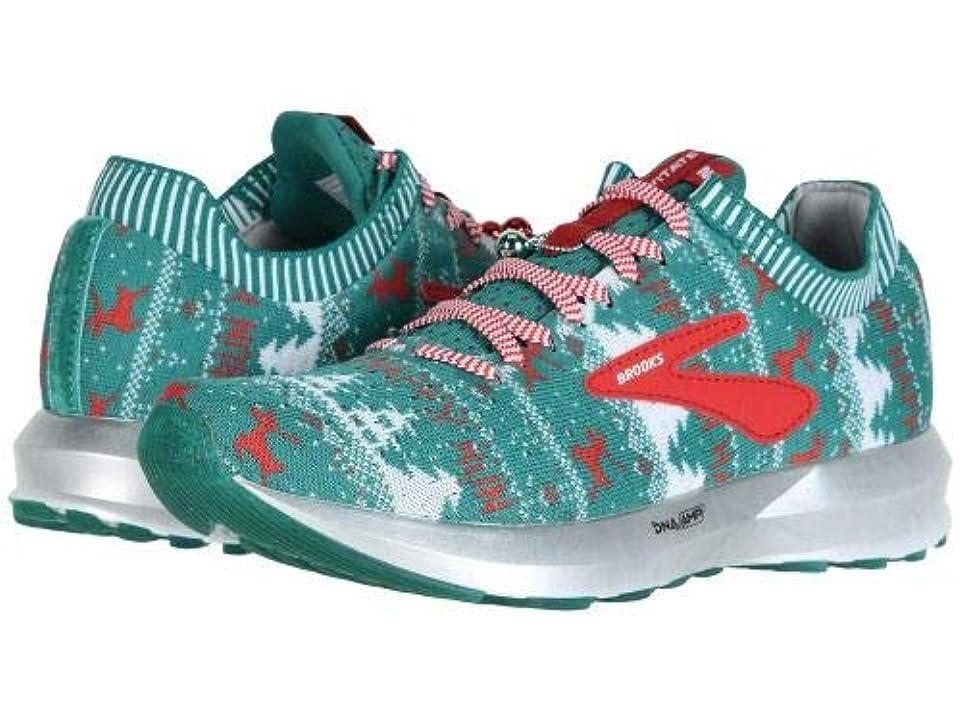 特異な北東ディンカルビルBrooks(ブルックス) レディース 女性用 シューズ 靴 スニーカー 運動靴 Levitate 2 - Green/White/Red (Holiday Edition) [並行輸入品]