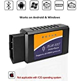 ELM327 Bluetooth OBD2 OBDII Scanner Car Code Reader Diagnostic Scan Tool Check Engine Light for Android & Windows Devices with Torque Pro APP