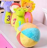 SHINA 動物ボウリング キーズ用/子供用 ソフトボーリング 赤ちゃんのおもちゃ ボウリングおもちゃ カラフル 知育玩具 幼児教育 知育教材 知育ラーニングトイ ボウリングトイズ 玩具 ぬいぐるみ