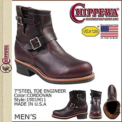 (チペワ)CHIPPEWA 1901M11 7 INCH STEEL TOE ENGINEER 7インチ スティールトゥ エンジニア ブーツ Eワイズ コードバン US11-29.0 (並行輸入品)