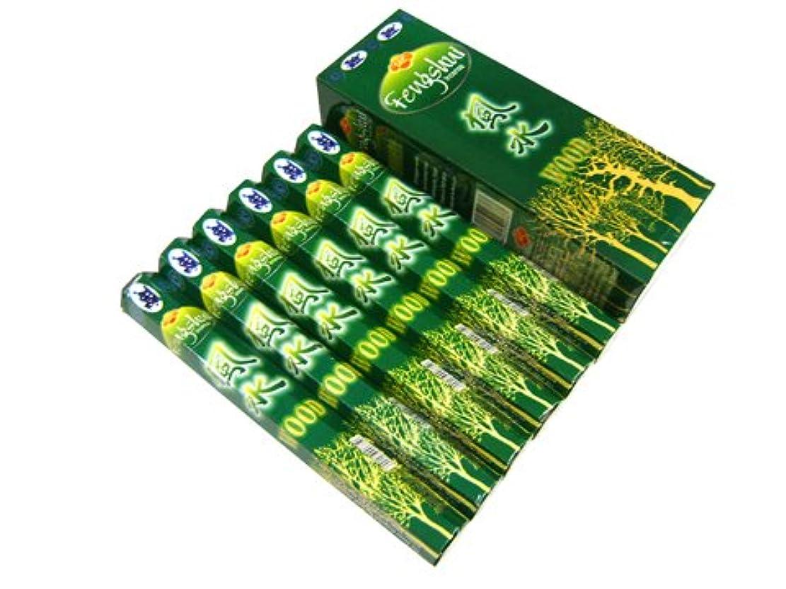 腕インスタンス偏差SANDESH SAC (サンデッシュ) 風水香(ウッド) スティック FENGSHUI WOOD 6箱セット