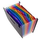(12層)A4 ファイルケース 収納バッグ 多層書類袋 スナップバッグ 整理袋 オルガンフォルダ ファイル 書類整理袋 大容量 PVC防水 スナップボタン 携帯にとても便利