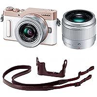 Panasonic ミラーレス一眼カメラ ルミックス GF90 ダブルレンズキット ホワイト DC-GF90W-W + ボディケース&ストラップキット ブラウン DMW-BCSK8-T セット