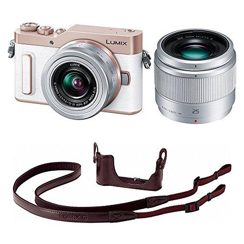 Panasonic ミラーレス一眼カメラ ルミックス GF90 ダブルレンズキット ホワイト DC-GF90W-W + ボディケースストラップキット ブラウン DMW-BCSK8-T セット