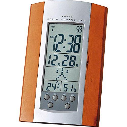 アデッソ 電波時計 【木製 木枠 とけい クロック スタンド...