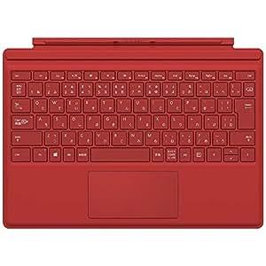マイクロソフト 【純正】 Surface Pro 4用 タイプカバー レッド QC7-00074