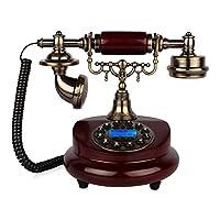 アンティーク電話ヨーロッパのレトロ家の居間ベッドルームの固定電話オフィス固定電話25 * 15 * 21センチメートル(電話回線に答えるために) (色 : B)