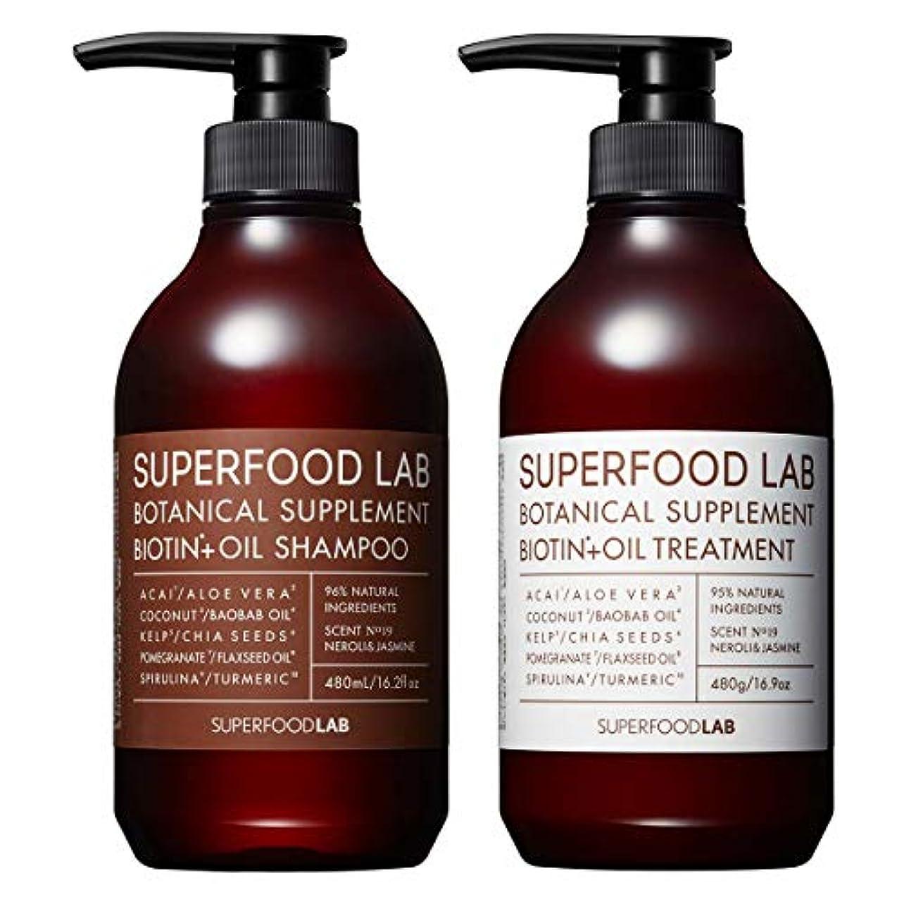 ロードブロッキングコマンドヒゲSUPERFOOD LAB BIOTIN + OIL SHAMPOO & TREATMENT