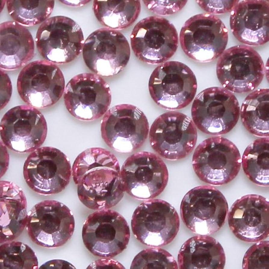 パズル玉着飾る高品質 アクリルストーン ラインストーン ラウンドフラット 約1000粒入り 2mm ライトローズ