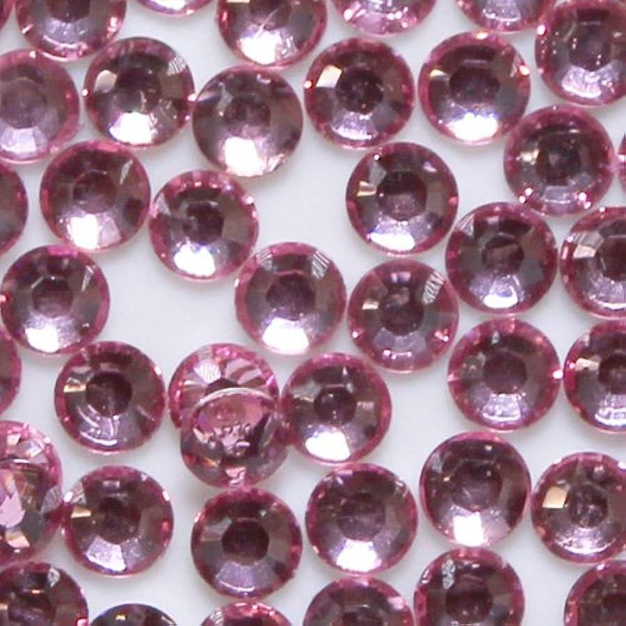 肥料胚芽賞賛高品質 アクリルストーン ラインストーン ラウンドフラット 約1000粒入り 4mm ライトローズ