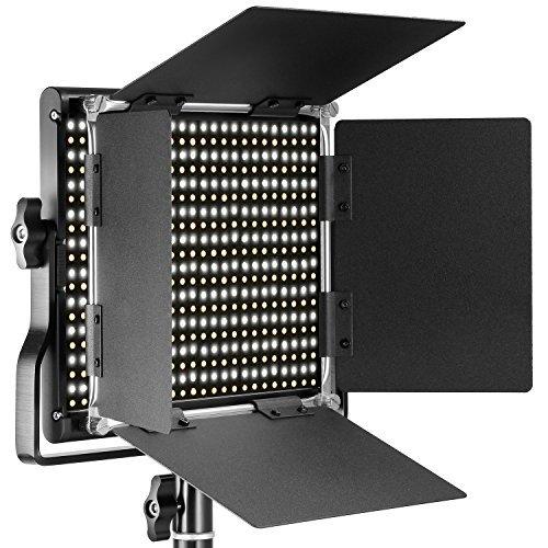 Neewer 調光可能な二色660 LEDビデオライト 耐久性のあるメタルフ...