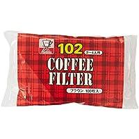 カリタ コーヒーフィルター NK102濾紙 (2~4人用) 100枚入り ブラウン #13125