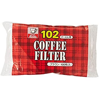 カリタ Kalita コーヒーフィルター ブラウン NK102濾紙 2~4人用 100枚入り #13125