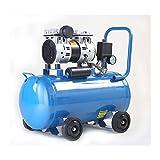 静音コンプレッサー (ブルー) 1馬力(0.75kW) 静音仕様(58db) オイルレス 50L コンプレッサー メスカプラ付き-静音コンプレッサー50L青-