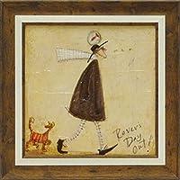 絵画 サム トフト さまよい人のおでかけ絵画 インテリア 壁掛け アート ポスター フック 海 ピカソ 額縁