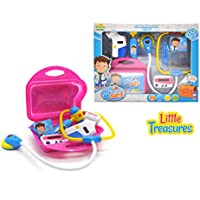 Little Treasures 8点Dr Pretend Play Doctor Medical PlayセットToy with Storageケースfor Ages 3 and Up