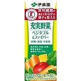 [ケース販売]伊藤園 充実野菜ベジタブル&ファイバー 200ml×24本