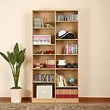 本棚 薄型 ラック 棚 木製 書棚 本箱 シェルフ 収納 コミック 大容量 おしゃれ 〔幅900〕 ナチュラル