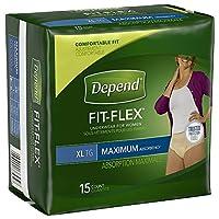 Depend 女性、最大、特大、ケース/ 60(4 / 15S)のための下着