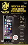 クリスタルアーマー プレミアム強化ガラス for iPhone 6 (0.15mm ゴリラガラス)