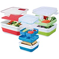 Cool Gear Ez-freeze Combo Pack Collapsible Food Storage Containers (Assorted Colors) by Cool Gear
