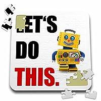 カルステンライジンガーイラスト−–Illustrations–お客様にこの。Happyロボット。–10x 10インチパズル( P。_ 237369_ 2)