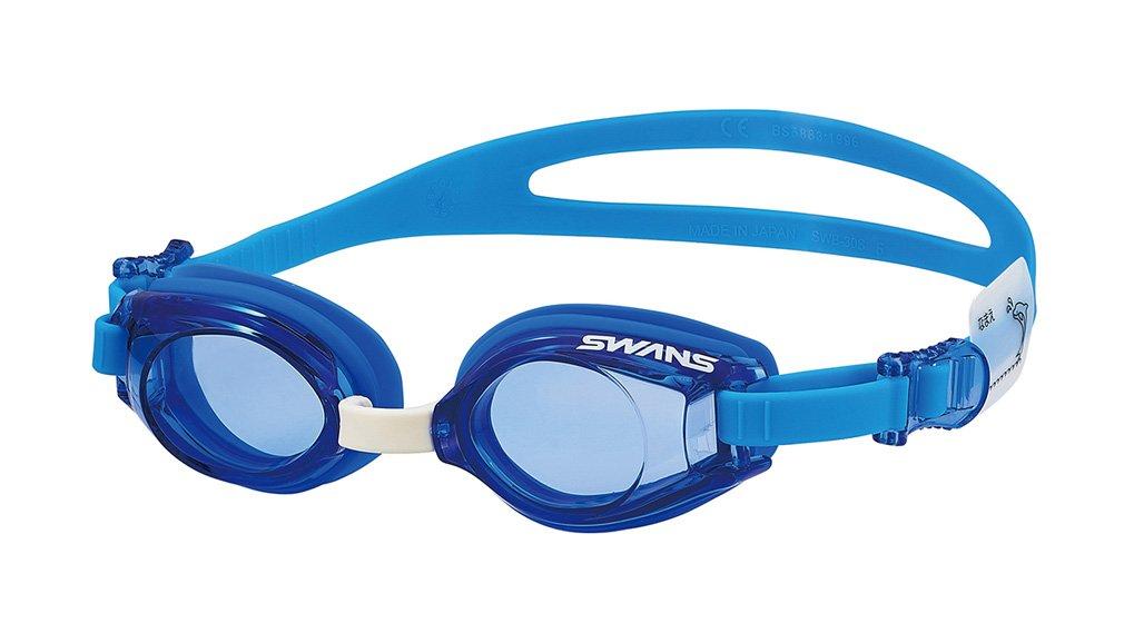 スワンズ SWANS スワンズ ジュニア スイミングゴーグル 3~8歳対象モデル SJ9 ブルー BL